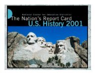 The Nation's Report Card: US History 2001 - Uintah Basin Teaching ...