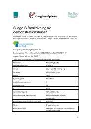 Bilaga B Beskrivning av demonstrationshusen - BeBostad.se