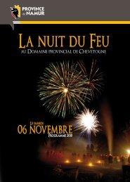 horaire des spectacles et feux d'artifice - Domaine Provincial de ...
