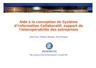 Aide à la conception de Système d'Information Collaboratif ... - LSIS