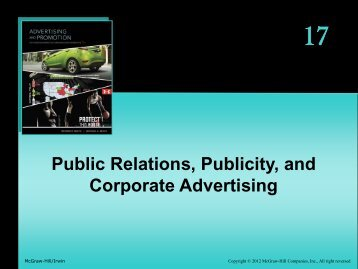 Public Relations, Publicity, and Corporate Advertising
