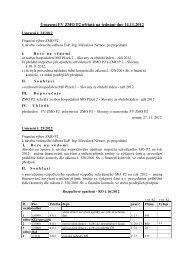 Usnesení FV ze dne 14.11.2012 - Městský obvod Plzeň 2 - Slovany