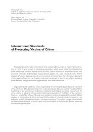 International Standards of Protecting Victims of Crime - Child Abuse ...