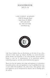 2013-2014 LFA Student Handbook - Lake Forest Academy