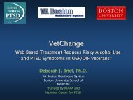 Internet Based Treatment for Risky Alcohol Use and PTSD ...