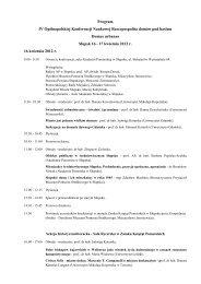 Program IV Ogólnopolskiej Konferencji Naukowej Rzeczpospolita ...