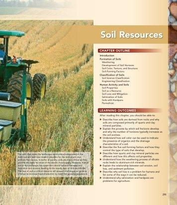 Soil Resources - Geological Sciences, CMU