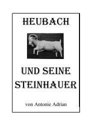 Heubach und seinE Steinhauer - Heubach im Odenwald