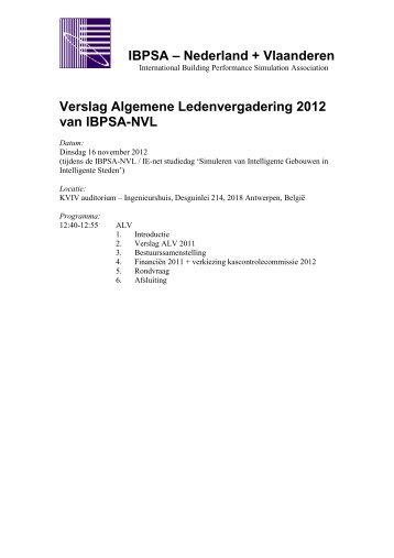 Notulen ALV 16 november 2012 - ibpsa-nvl