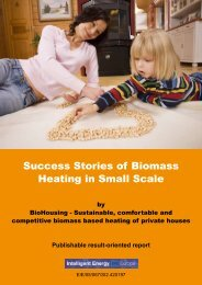 Success Stories of Biomass Heating in Small Scale