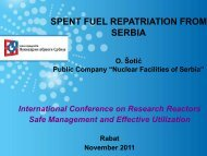 Spent fuel repatriation from Serbia - Nuclear Sciences and ...