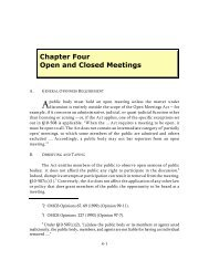 Chapter 4 Open and Closed Meetings - Maryland Attorney General