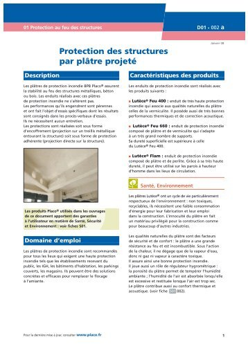 Decore Placo Plâtre : Protection des conduits par pl tre projeté placo