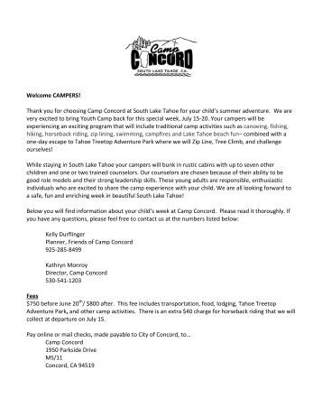 download our welcome letter friends of camp concord