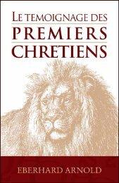 Le témoignage des premiers chrétiens - Plough