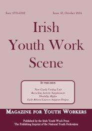 Issue 43: October 2004 - Youth Work Ireland