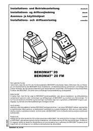 BEKOMAT® 20 BEKOMAT® 20 FM - BEKO TECHNOLOGIES GmbH