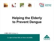 Helping the Elderly to Prevent Dengue - MMM
