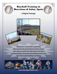 Baseball Training in Barcelona & Salou, Spain - Selects Sports