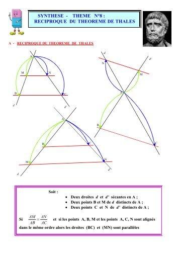 reciproque du theoreme de thales