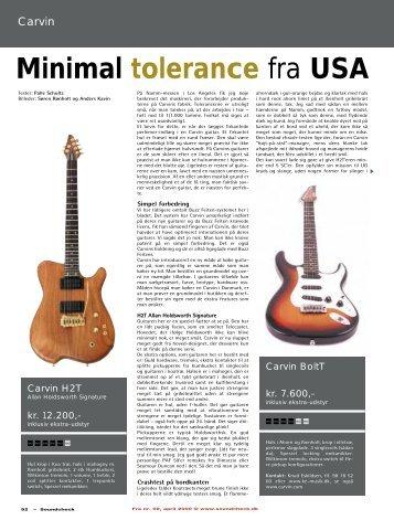 Minimal tolerance fra USA - Soundcheck