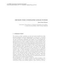 DISCRETE TIME CONSTRAINED LINEAR SYSTEMS - LSIS