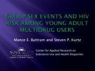 Group Sex Events and HIV Risk among Young Adult Multidrug Users