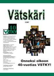 Onneksi olkoon 40-vuotias VSTKY! - Varsinais-Suomen ...