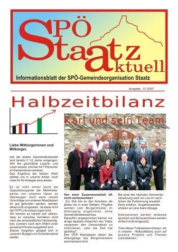 Halbzeitbilanz 2007 - SPOE-Staatz Startseite
