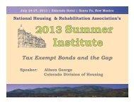 Tax Exempt Bonds and the Gap - National Housing & Rehabilitation ...