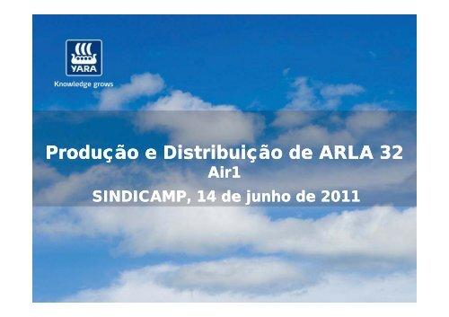 Produção e Distribuição de ARLA 32 - Transporte Moderno
