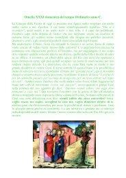 XXXI Domenica Tempo Ordinario - Anno C - Cuore e Mani Aperte