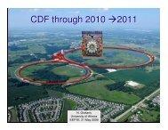 CDF through 2010 →2011