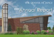 comfort, compassion and expertise since 1978 - The Denver Hospice
