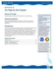 An Ode to the Oyster - Estuaries NOAA