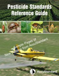 Pesticide Standards Reference Guide