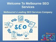 SEO Agency Melbourne | SEO Services | SEO Consultant
