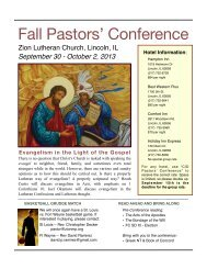 Information - Central Illinois District - Lutheran Church Missouri Synod