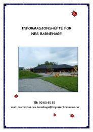 INFORMASJONSHEFTE FOR Nes BARNEHAGE.pdf - Ringsaker ...