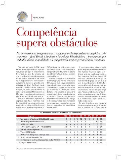 Competência supera obstáculos - Transporte Moderno