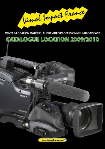 cataloGue location 2009/2010 - Visual Impact France