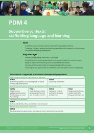 Supportive contexts: scaffolding language and learning - NALDIC