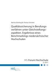 HIS – Forum Hochschule 2|2011 - Hochschul-Informations-System ...