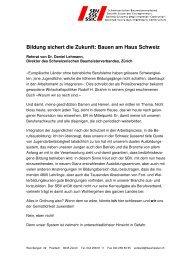 Bildung sichert die Zukunft: Bauen am Haus Schweiz - Schweizer ...