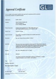 Certificate SOLAS (type 1b suits) - Ansell Protective Solutions