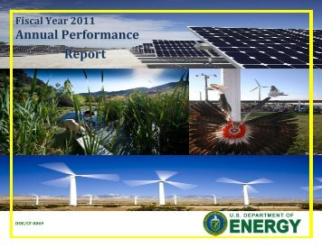 2011 Annual Performance Report - Chief Financial Officer - U.S. ...