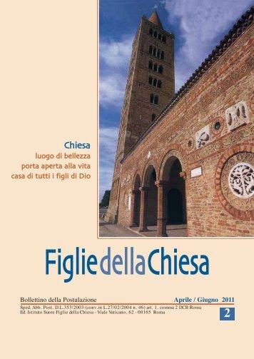 Bollettino N.2-2011 copia:Layout 1 - Figlie della Chiesa