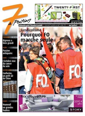 n° 48 voir ce numéro - 7 à Poitiers