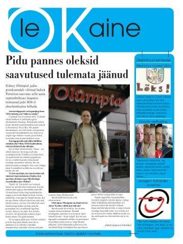 esimene number - Eesti Karskusliit AVE