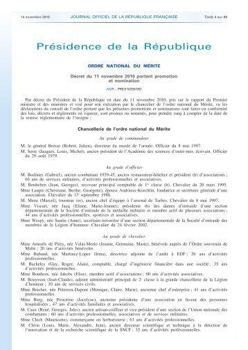 Journal officiel de la République française - N ... - Anciens du RICM
